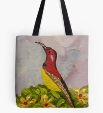 Bird with Flowers  Tote Bag