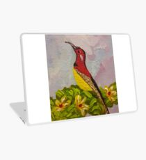 Bird with Flowers  Laptop Skin