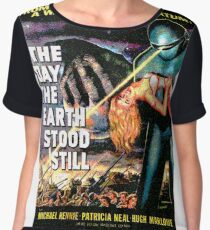 Science Fiction Movie RETRO The Day the Earth Stood Still Chiffon Top
