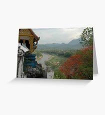 Nam Khan River, Luang Prabang, Laos Greeting Card