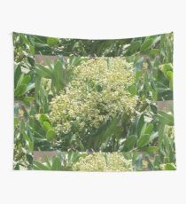 Flowers And Bees Wall Tapestry