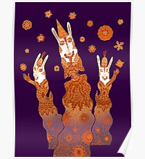 Psychedelic Rabbit Wizards  Poster