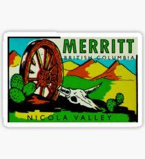 Merritt British Columbia Vintage Travel Decal Sticker