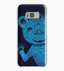 Blue Berlin Bear Goes Boom Samsung Galaxy Case/Skin