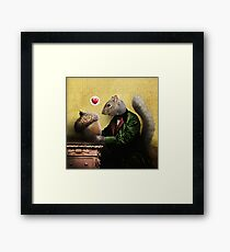 Mr. Squirrel Loves His Acorn Framed Print