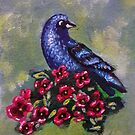 Bird with Flowers II by Noelia Garcia