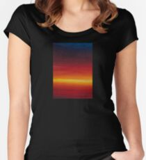 Watercolours of Sunset Women's Fitted Scoop T-Shirt