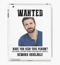 wanted: chris evans iPad Case/Skin