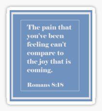 Romans 8:18 Sticker