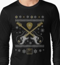 Merry Guitar Bass Ugly Christmas Sweater Funny Tshirt T-Shirt