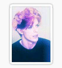 Flower Crown Bowie Sticker