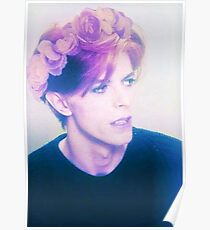 Flower Crown Bowie Poster