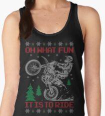 Dirt Bike Ugly Christmas Women's Tank Top