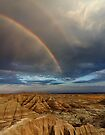 Rainbow over Badlands National Park by Alex Preiss