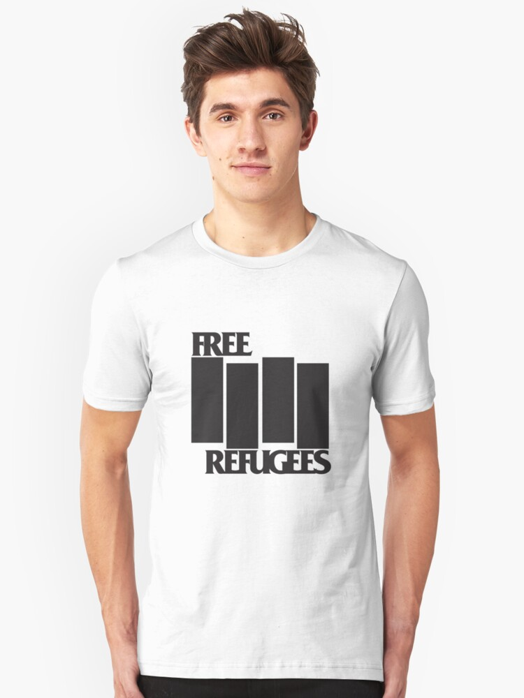 FREE REFUGEES FLAG by rule30