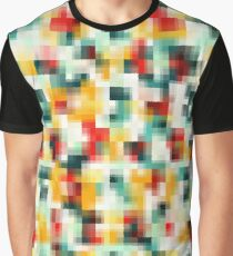 Red Blue Green Yellow White Abstract Pattern Graphic T-Shirt
