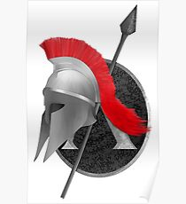 Spartan Helmet Drawing Posters Redbubble