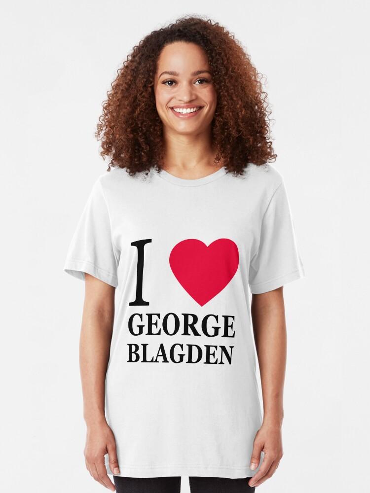 I love George Blagden (1) | Slim Fit T-Shirt