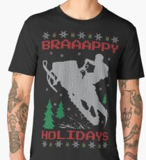 Snowmobile Ugly Christmas Men's Premium T-Shirt