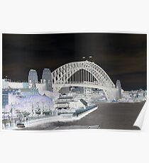 Syndey Harbour Bridge - inverted Poster