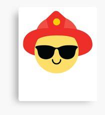Fireman Emoji   Canvas Print