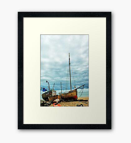 Boats at Deal 3 Framed Print