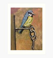 Bird on Keys  Art Print