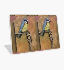 Bird on Keys  Laptop Skin