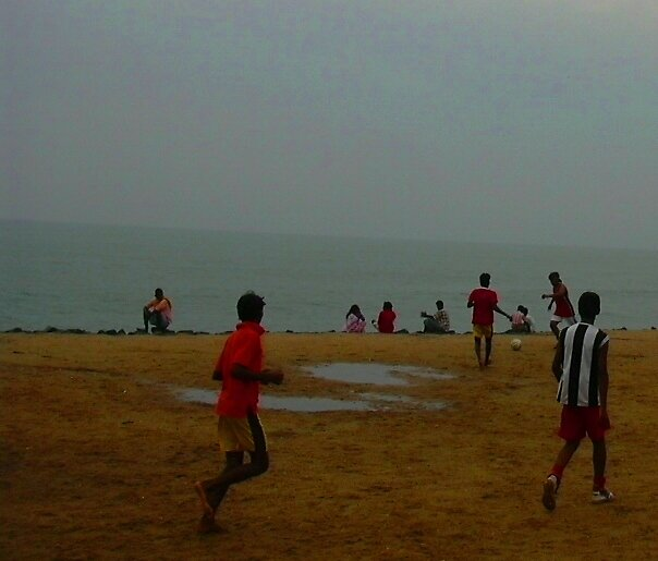 beach football  by pugazhraj