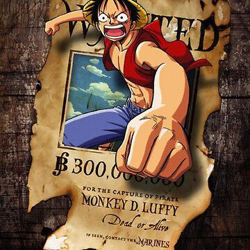 Wanted Luffy by yass-92
