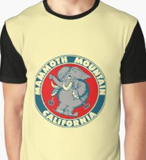 Mammoth Mountain California Skiing Vintage Travel Decal Graphic T-Shirt