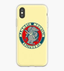 Mammoth Mountain California Skiing Vintage Travel Decal iPhone Case