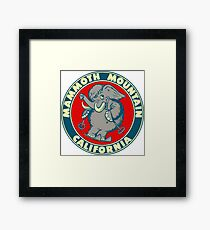 Mammoth Mountain California Skiing Vintage Travel Decal Framed Print