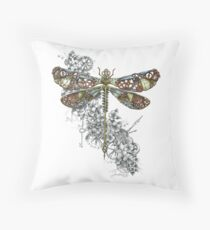 """Clockwork Dragonfly"" Floor Pillow"