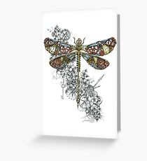"""Clockwork Dragonfly"" Greeting Card"