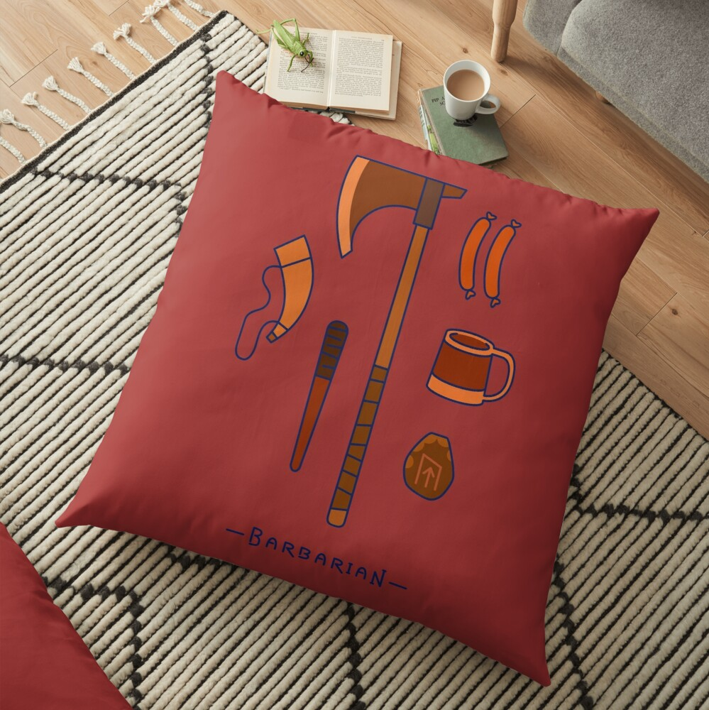 The Barbarian Floor Pillow