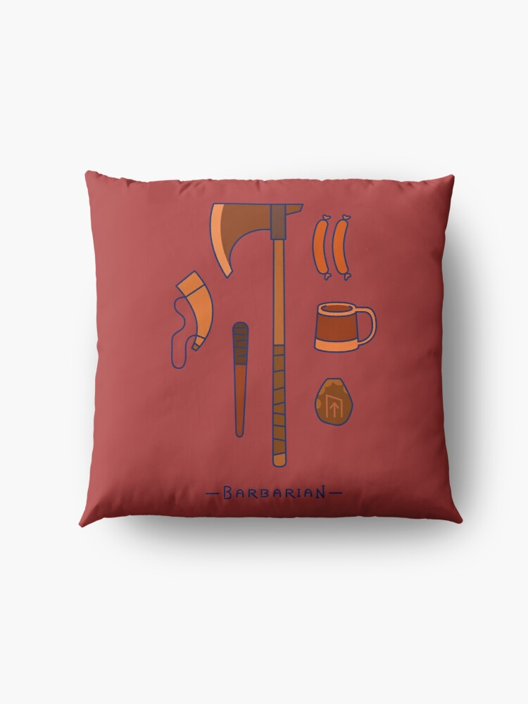 Alternate view of The Barbarian Floor Pillow