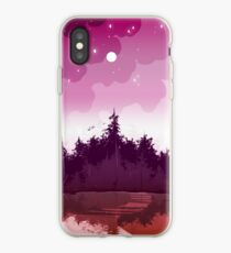 lesbian pride forest iPhone Case