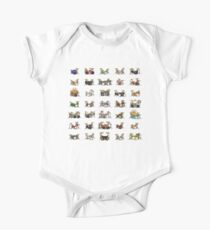 35 Pixel Drum Sets One Piece - Short Sleeve
