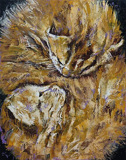 Sleeping Kittens by Michael Creese