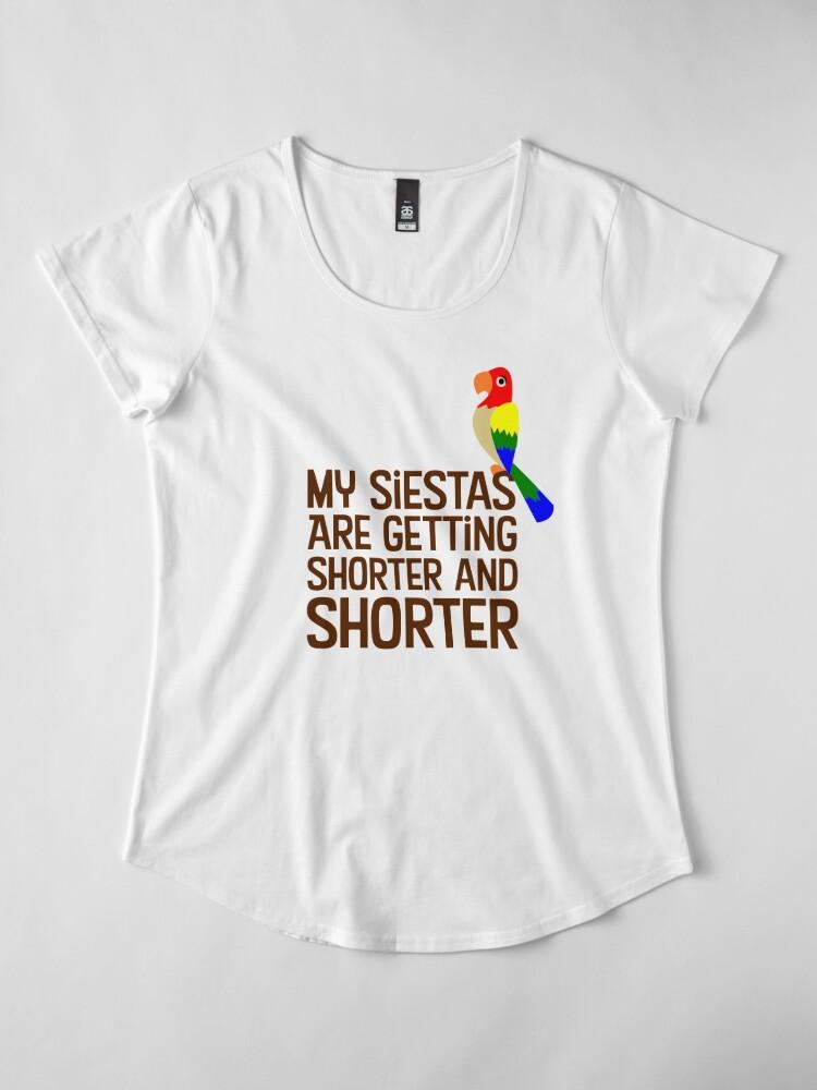 Vista alternativa de Camiseta premium de cuello ancho Tiki Room Siestas