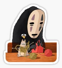 Spirited Away - Boh and No Face Knitting Sticker