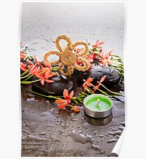 Flower Calm - Candle And Stones Poster