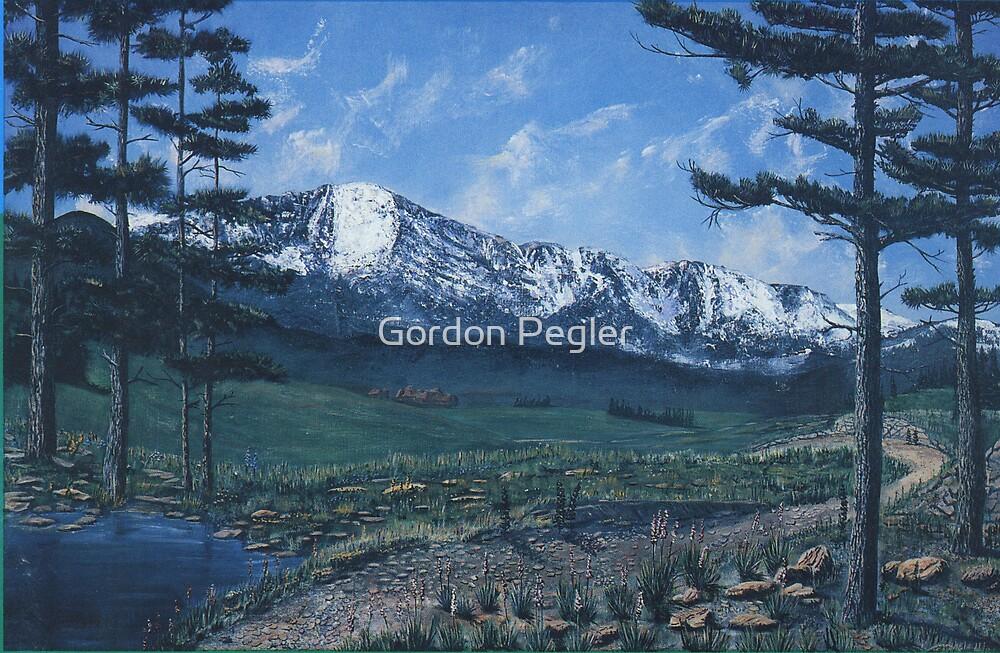 Pikes Peak Colorado- Acrylic Painting by Gordon Pegler