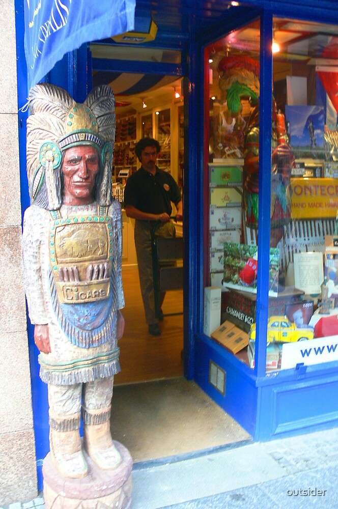 Cigar Store Indians - Endinburgh, Scotland by outsider