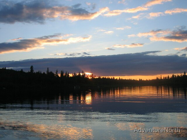 A Beautiful Northern Maine Sunset by AdventureNorth