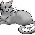 Gray Cat by Jennifer Stolzer