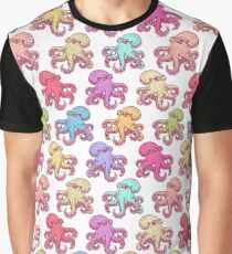 Multicolored Octopus Vintage Retro Style Graphic T-Shirt