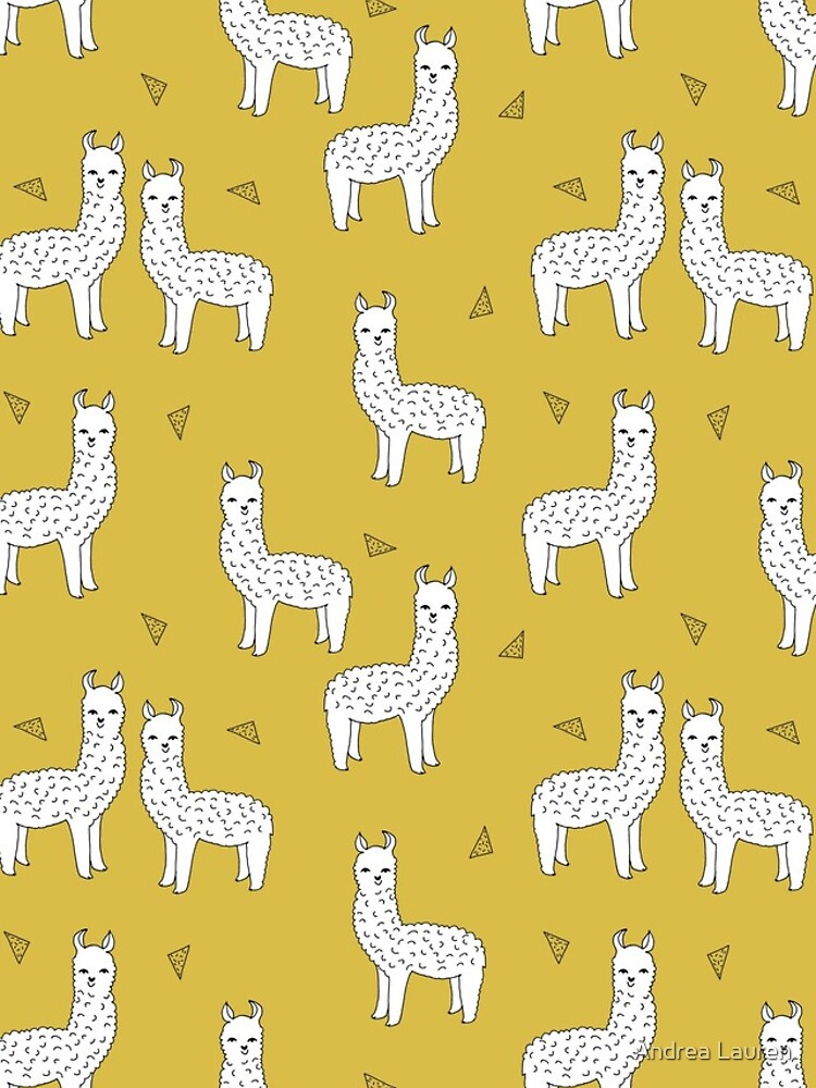 Alpaca - Mustard by Andrea Lauren by papersparrow