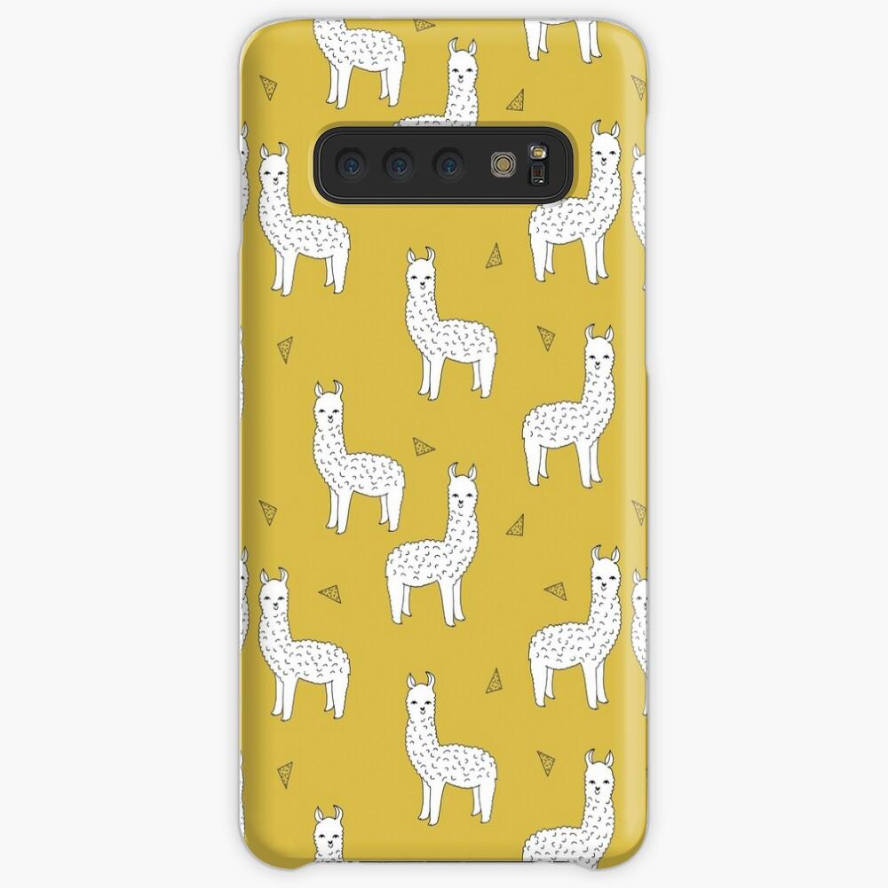 Alpaca - Mustard by Andrea Lauren Case & Skin for Samsung Galaxy